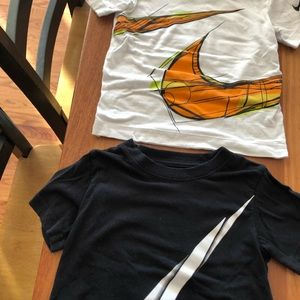 2 Nike toddler t-shirts size 3T and 4 never worn